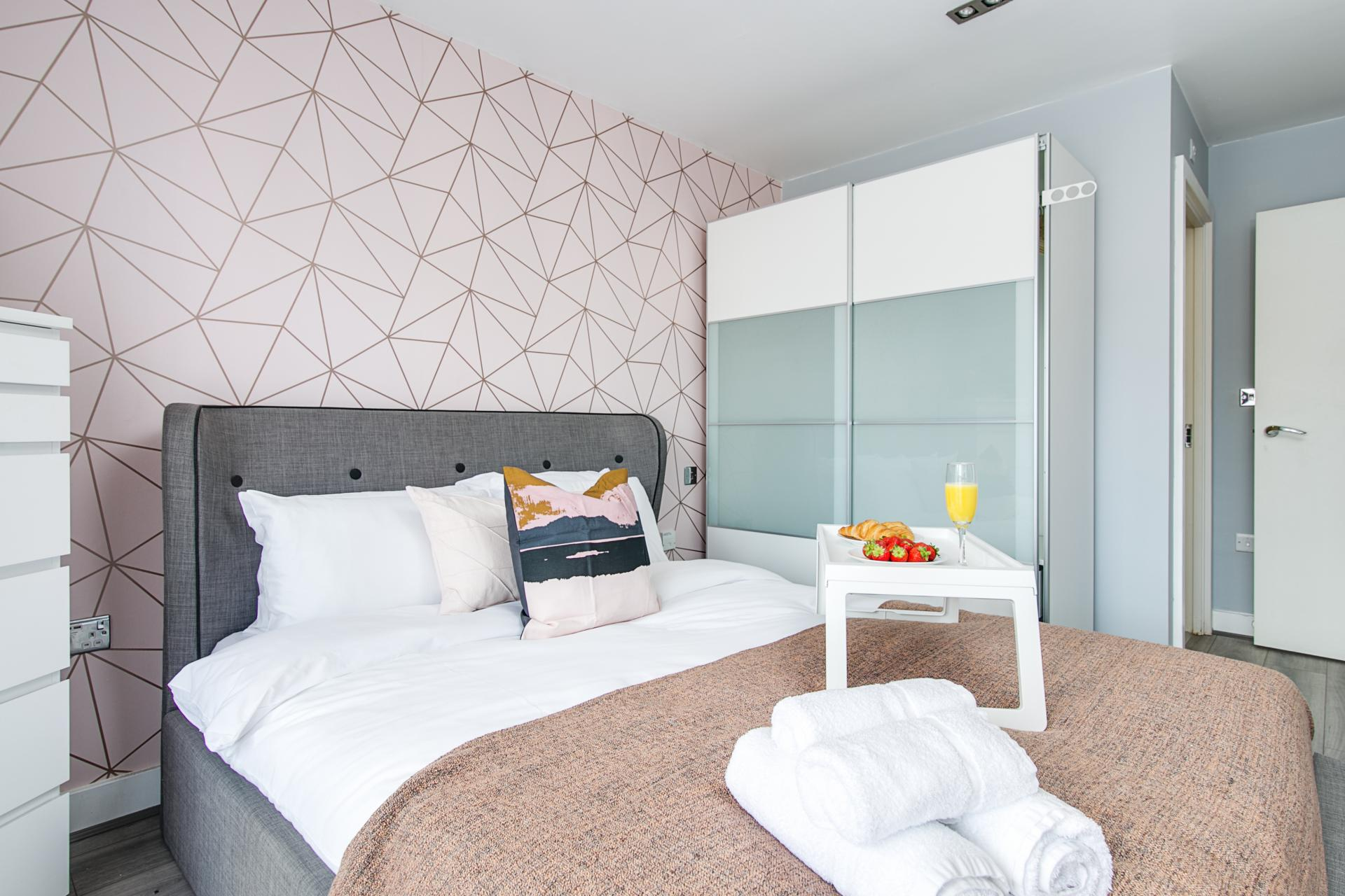 Bedroom at Canal Muse Apartment, Newtown, Birmingham