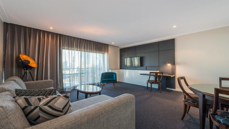 Living area in 2 bed at Mantra on Russell