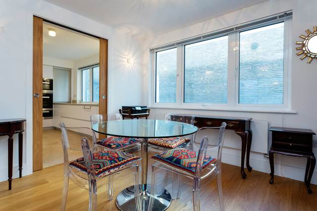 Table and chair at Market Mews Apartment, Mayfair, London