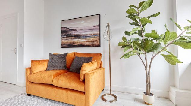 Living area at Mountjoy Square Apartments, Broadstone, Dublin