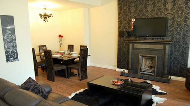 Sophisticated living area in Stay Edinburgh City Apartments