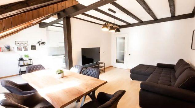 Living Room at The Lorraine Apartment