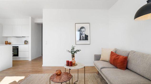 Living area at Copenhagen West by Charles Hope, Valby, Copenhagen