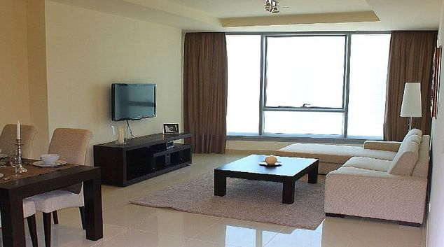Furnished living area in Level 15 Serviced Apartments