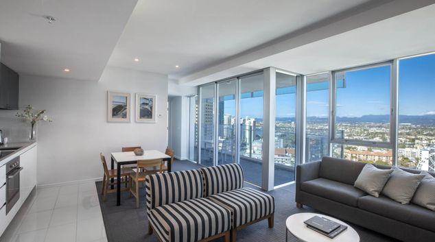 Living room at Hilton Surfers Paradise Hotel & Residences, Surfers Paradise, Gold Coast