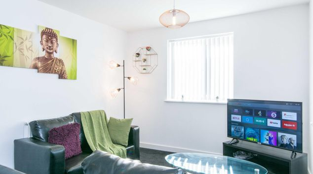 Living room at Childer Close Apartment, Foleshil, Coventry