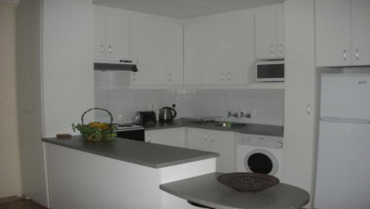 Equipped kitchen in Antibes Apartments