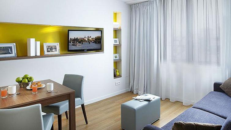 Fresh living area in Citadines Place d'Italie Apartments
