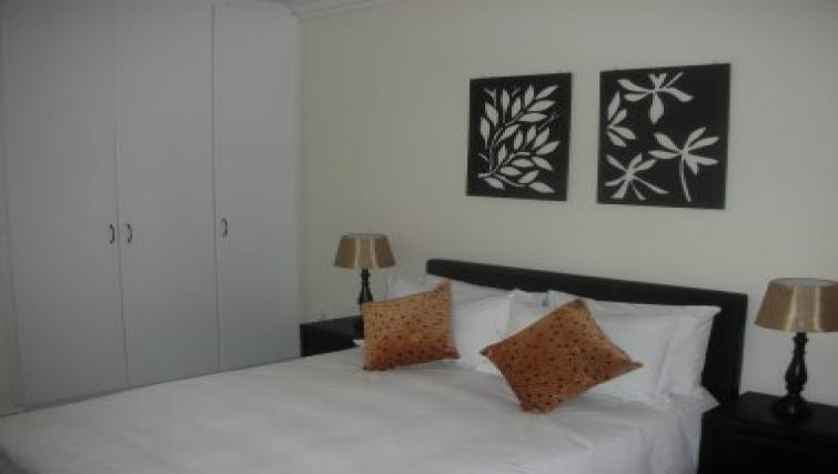 Stylish bedroom in Northernacres Apartments
