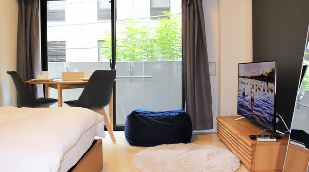 Living area at Asyl Court Ginza East Apartments, Chuo, Tokyo