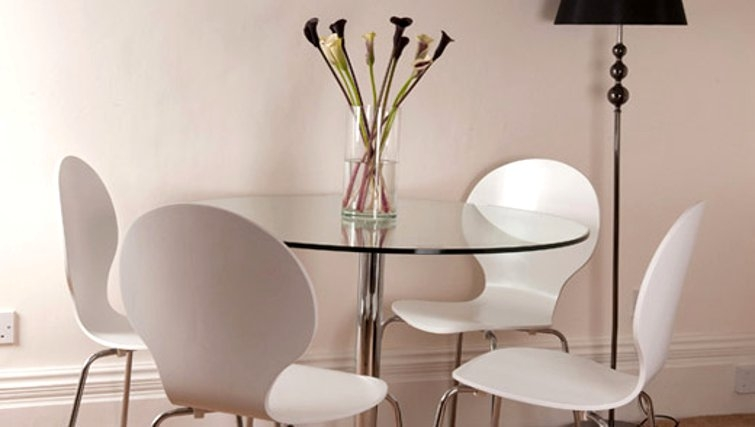 Modern dining area in Albany House