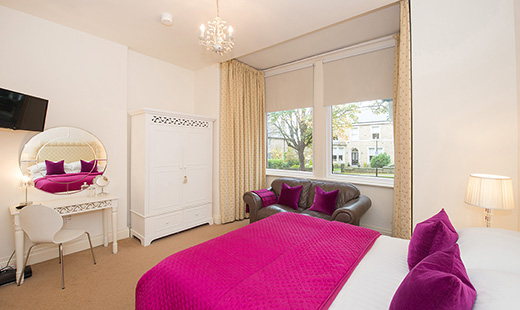 Spacious bedroom at Albany House