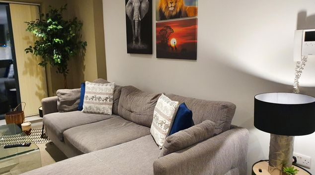 Living room at Tribe Apartments, Ancoats, Manchester