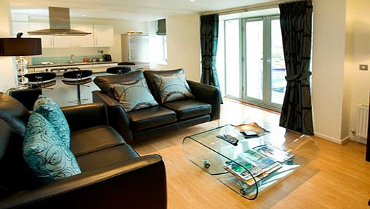 Modern living area in Chelmsford Serviced Apartments