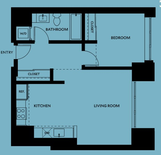 1 Bedroom Apartment at The Carson Apartments, North West District, Portland