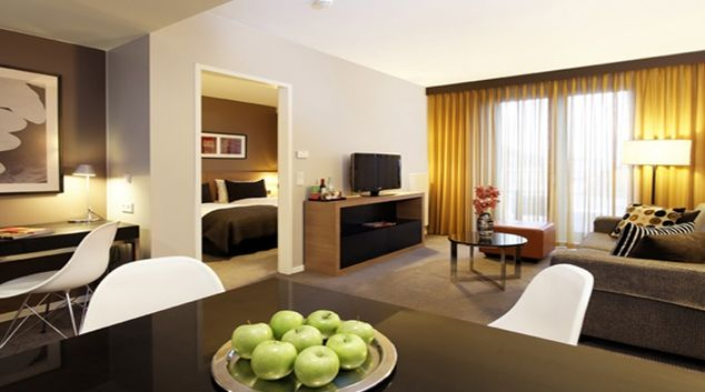 Sophisticated living area in Adina Apartment Hotel Berlin Mitte