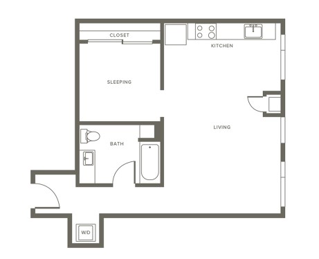 1 Bedroom Apartment at Modera Pearl Apartments, Pearl District, Portland
