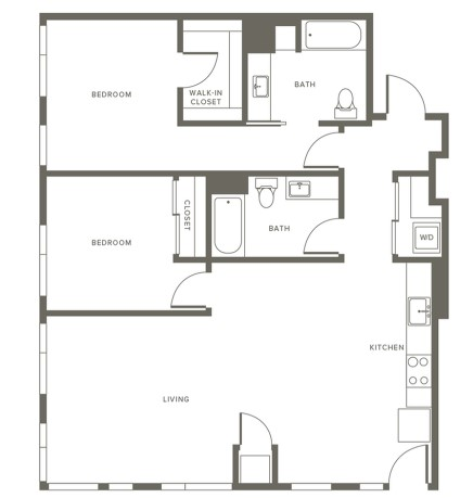 2 Bedroom Apartment at Modera Pearl Apartments, Pearl District, Portland