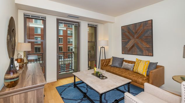 Living area at Lyon Place At Clarendon Center, Lyon Park, Arlington