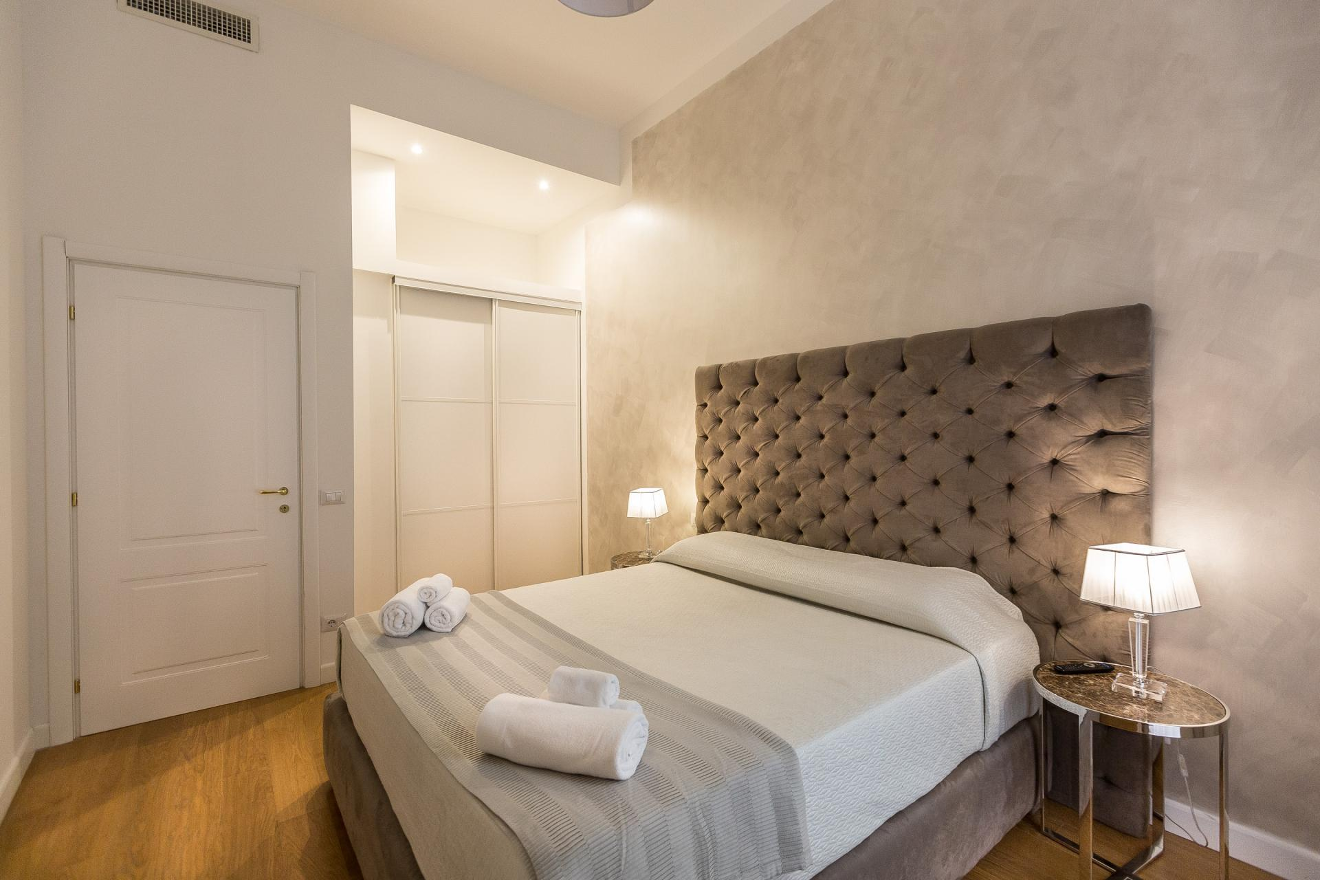 Bed at Velvet Vittoriano Apartment, Municipio I, Rome