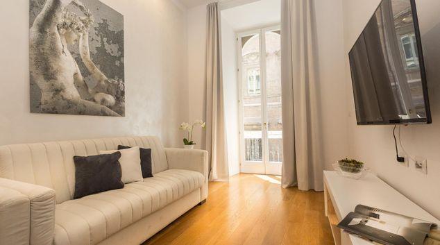 Living area at Velvet Vittoriano Apartment, Municipio I, Rome