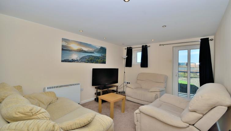 Cosy living area at at Chester Racecourse Apartments