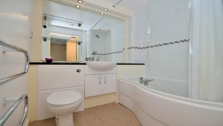 Bathroom at Chester Racecourse Apartments
