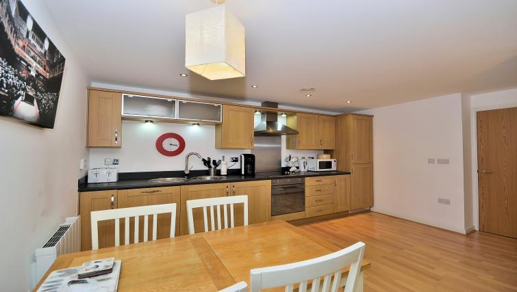 Living space at Chester Racecourse Apartments