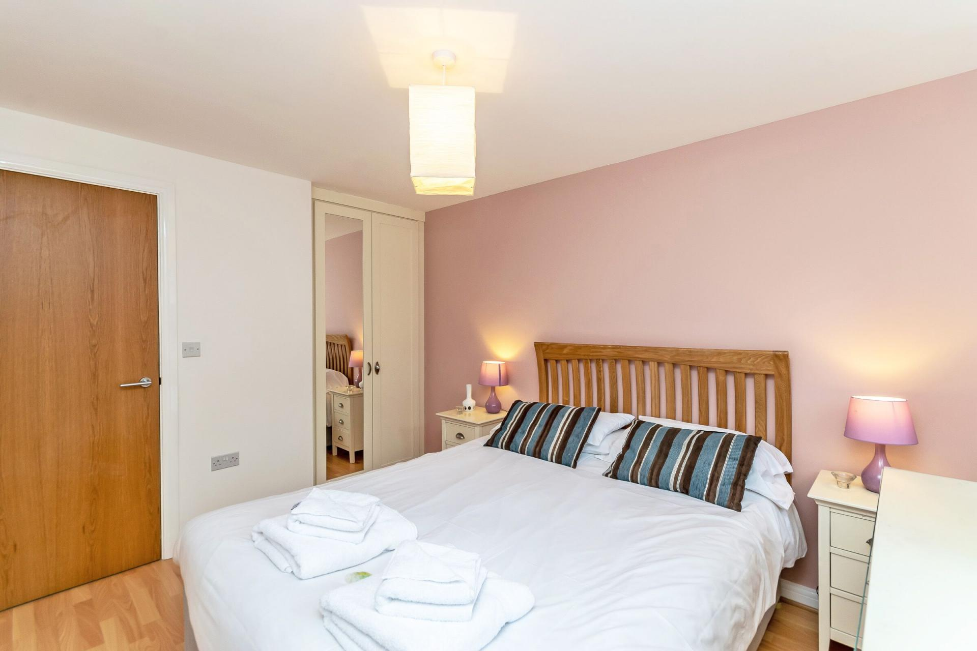 Double room at Chester Racecourse Apartments
