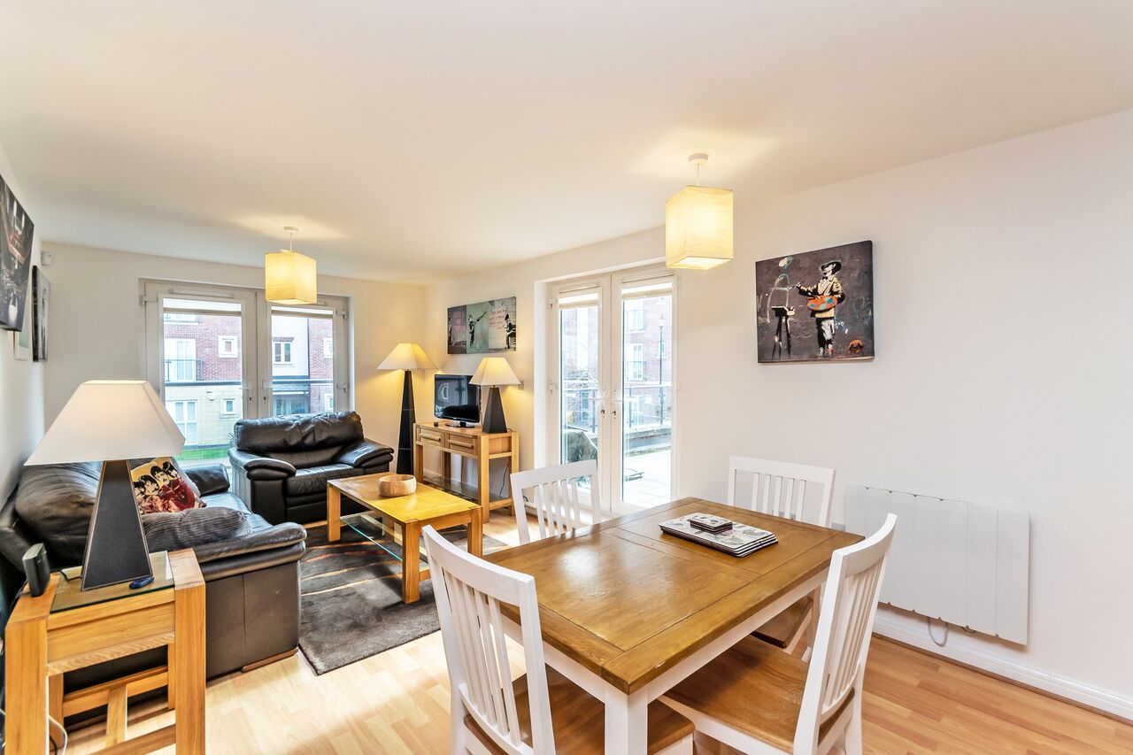 Dining area at Chester Racecourse Apartments