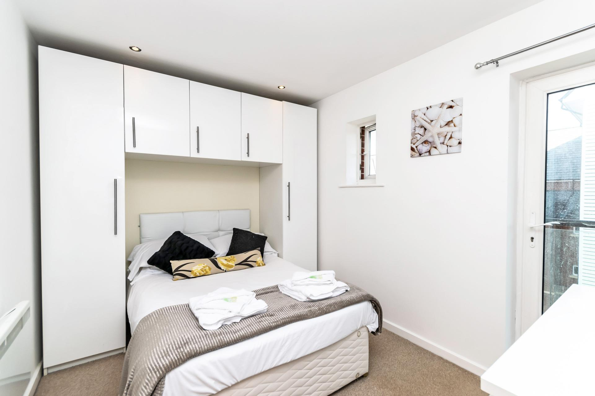 Cosy bedroom at Chester Racecourse Apartments