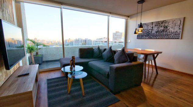 Living area at Condes Plus Apartment, Las Condes, Santiago