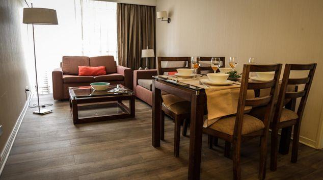 Dining area at San Sebastian Plus Apartment, Las Condes, Santiago