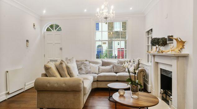 Living room at Montpelier Walk Residences, Knightsbridge, London