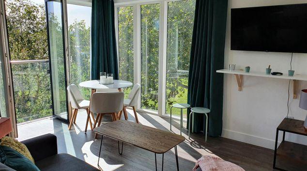 Living area at Cooperage Court Apartment, Southville, Bristol