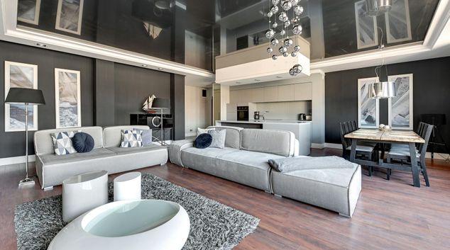 Living area at Blue Mandarin Szafarnia Apartments, Centre, Gdansk