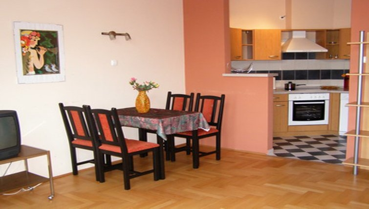Simplistic dining area in InnerCity Apartments