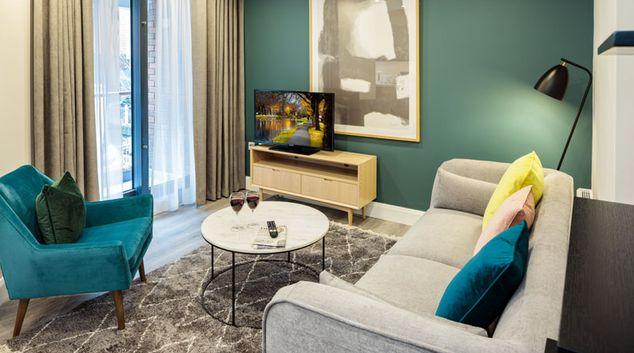 Living area at Durrow Mews Apartments, Beggar's Bush, Dublin