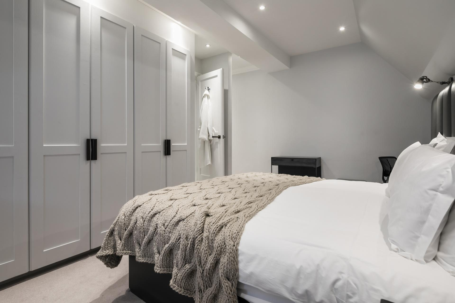 Spacious bedroom at Luxurious Mayfair Apartments, Mayfair, London