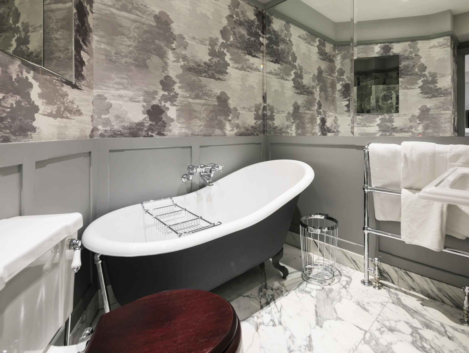 Bath at Luxurious Mayfair Apartments, Mayfair, London