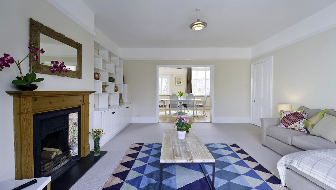 Spacious living area at Craven House Apartments