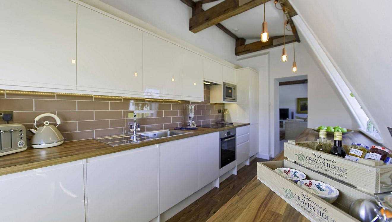Kitchen at Craven House Apartments