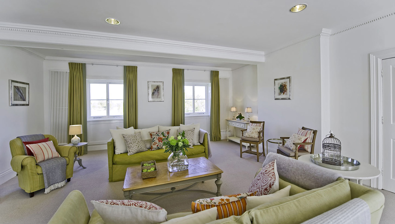 Cosy lounge at Craven House Apartments