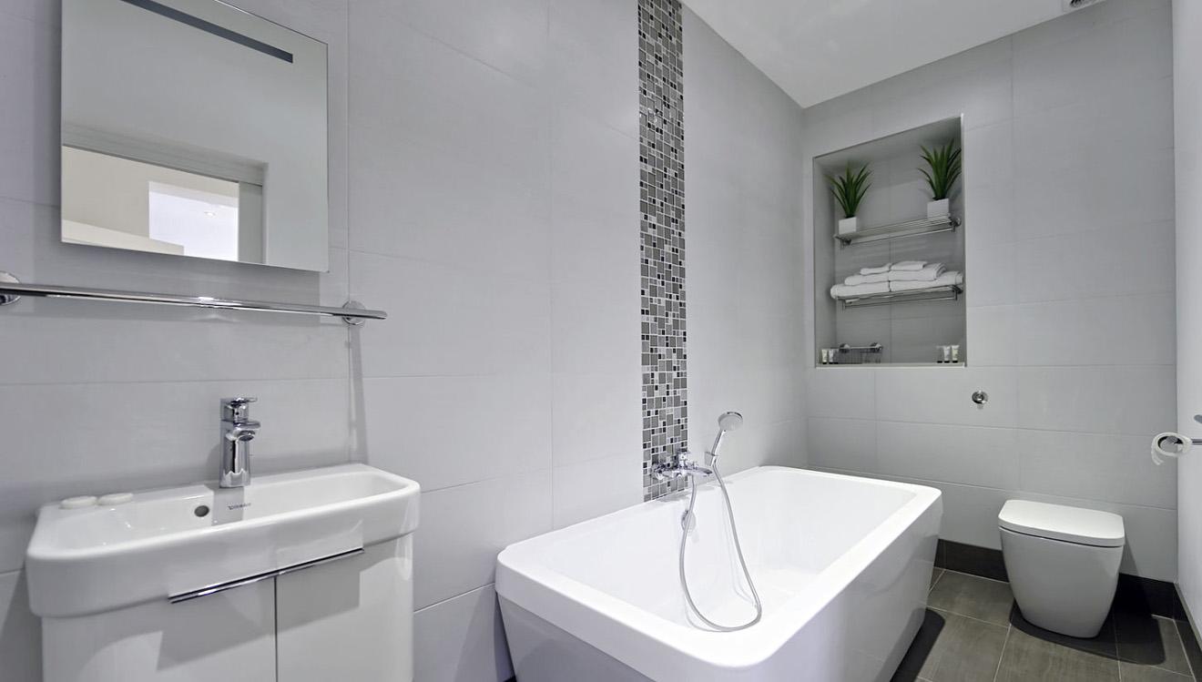 Bathroom at Craven House Apartments