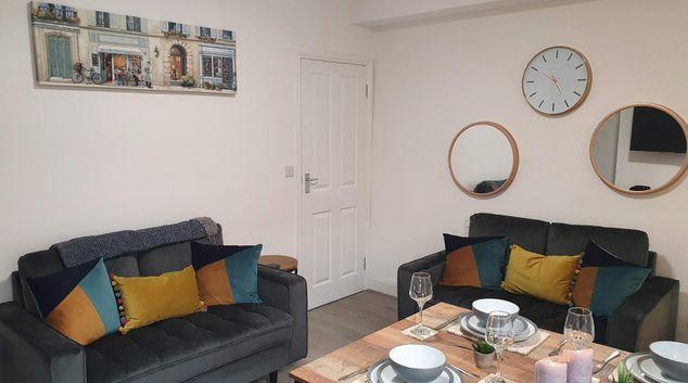 Living area at Victoria House Bristol, Bedminster, Bristol