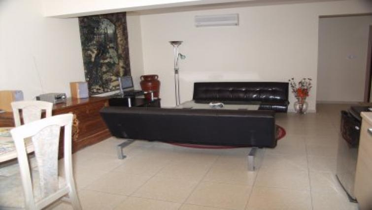 Spacious living area in Pyla Village Apartment