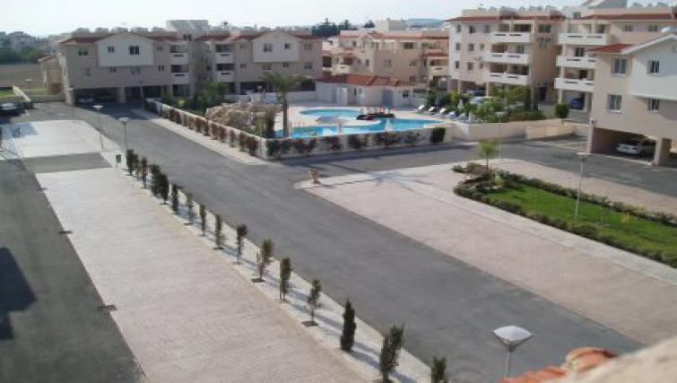 Welcoming exterior of Pyla Village Apartment