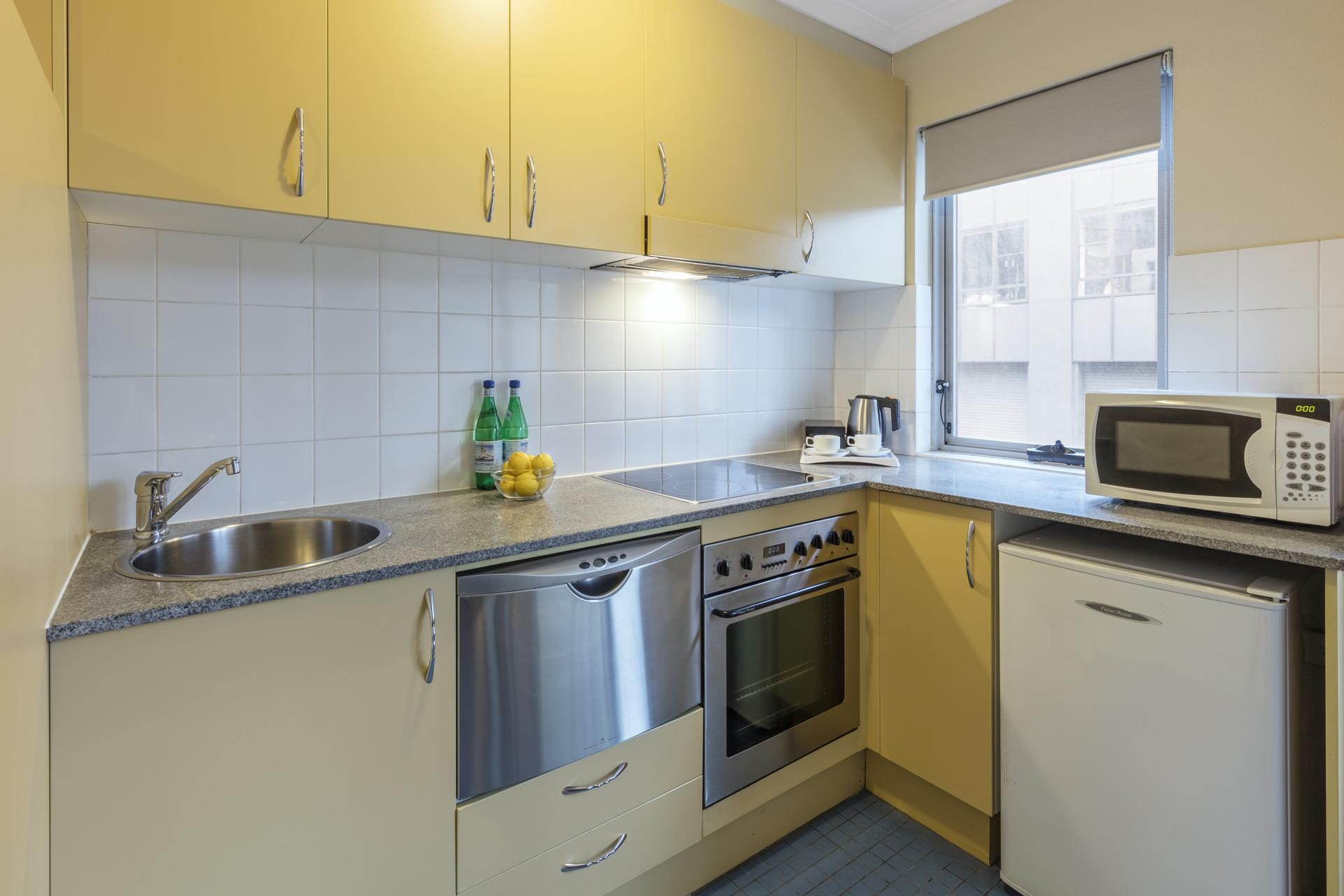 Kitchen at Nesuto Chippendale Apartment Hotel, Chippendale, Sydney
