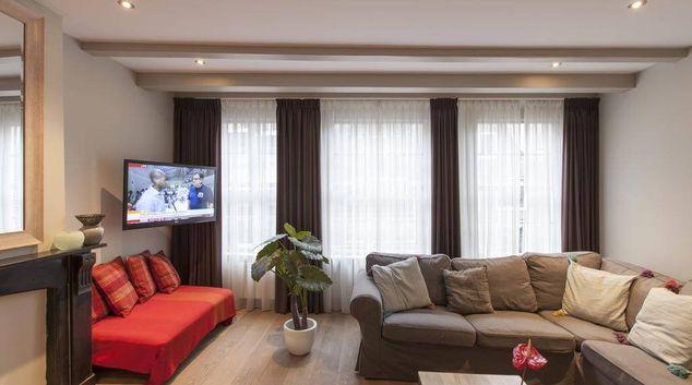 Living area at Haarlemmerstraat Penthouse Apartment, Jordaan, Amsterdam