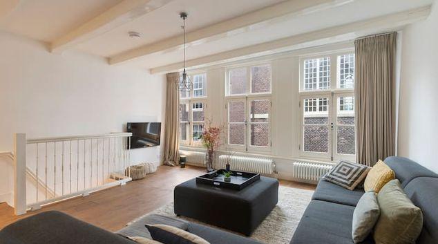 Living room at Noordermarkt Apartment, Jordaan, Amsterdam
